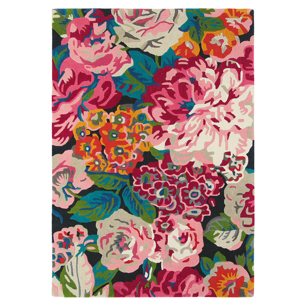 Rose & Peony Rug - Cerise - by Sanderson