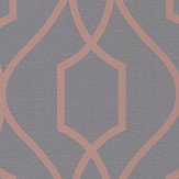 Albany Apex Trellis Charcoal and Copper Wallpaper