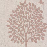Albany Quartz Tree Rose Gold Wallpaper