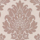 Albany Quartz Damask Rose Gold Wallpaper