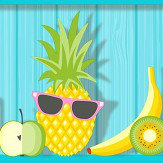 Albany Kidz Tropical Shelves Aqua Wallpaper - Product code: FD42210