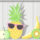 Albany Kidz Tropical Shelves Grey Wallpaper