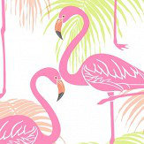 Albany Kidz Flamingo Pink and Green Wallpaper
