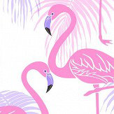 Albany Kidz Flamingo Pink and Lilac Wallpaper