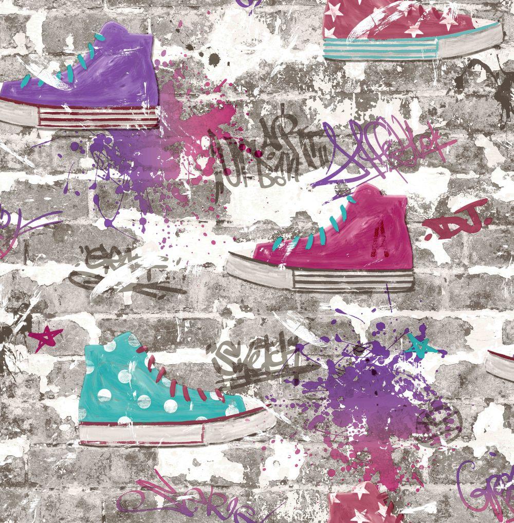 Albany Kidz Urban Street Purple Wallpaper - Product code: FD42219