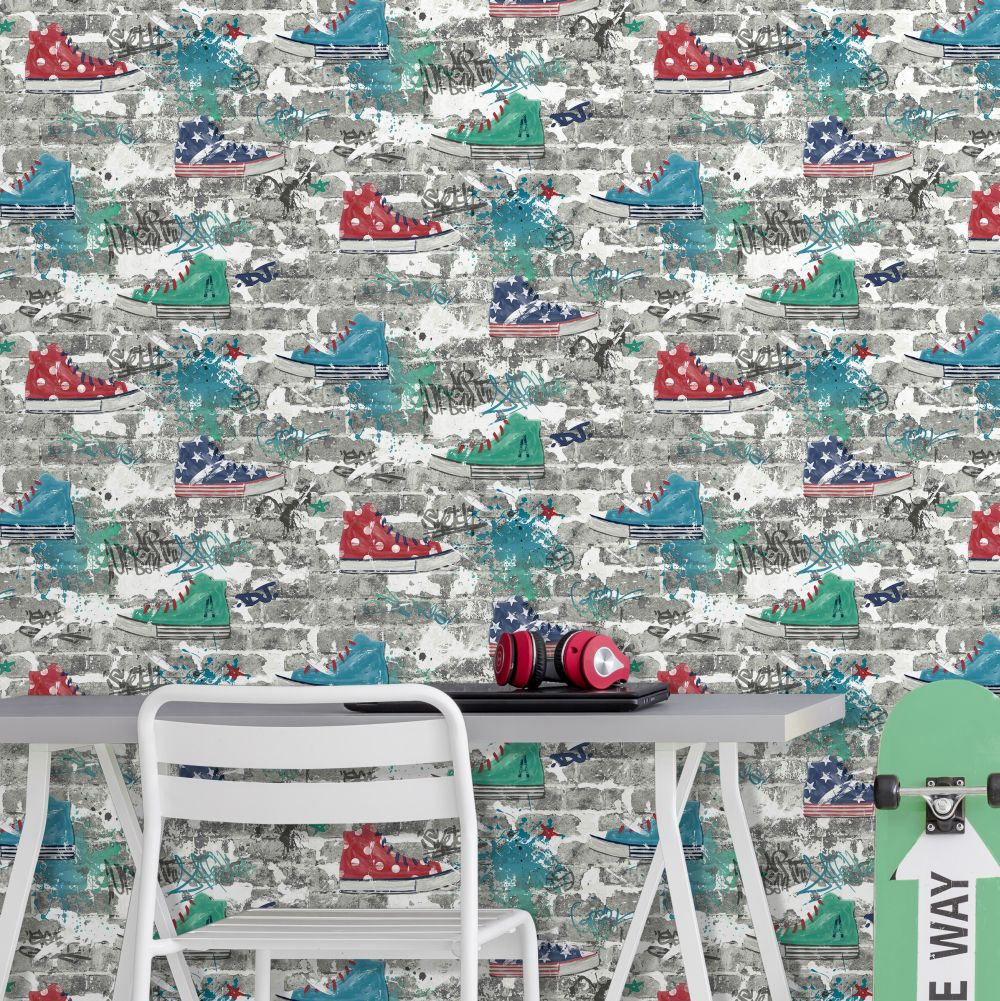 Albany Kidz Urban Street Red Wallpaper - Product code: FD42220