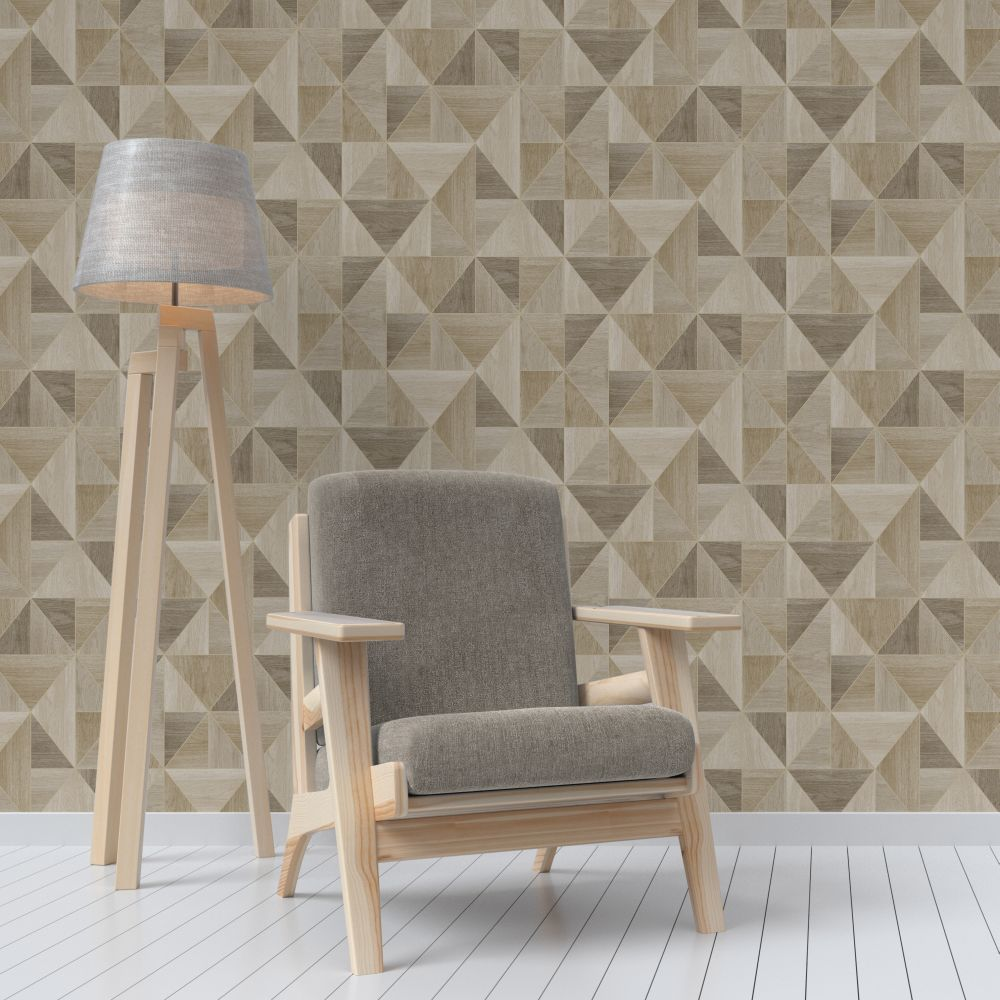 Albany Apex Wood Grain Oak Wallpaper - Product code: FD42222
