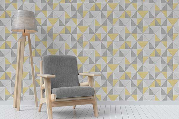 Albany Apex Wood Grain Yellow Wallpaper