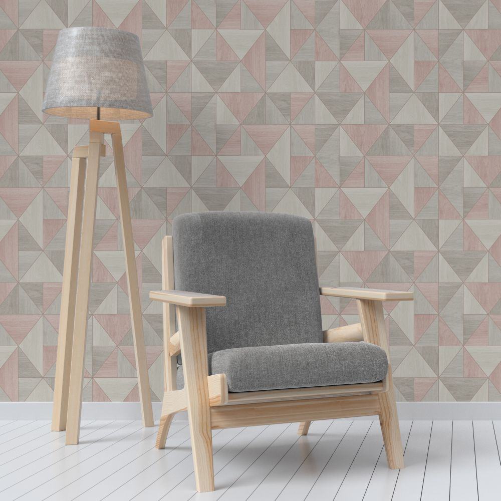 Albany Apex Wood Grain Rose Gold Wallpaper - Product code: FD42224