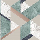 Albany Marblesque Geo Emerald  Wallpaper