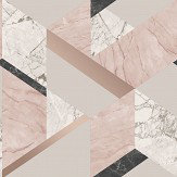 Albany Marblesque Geo Pink Wallpaper