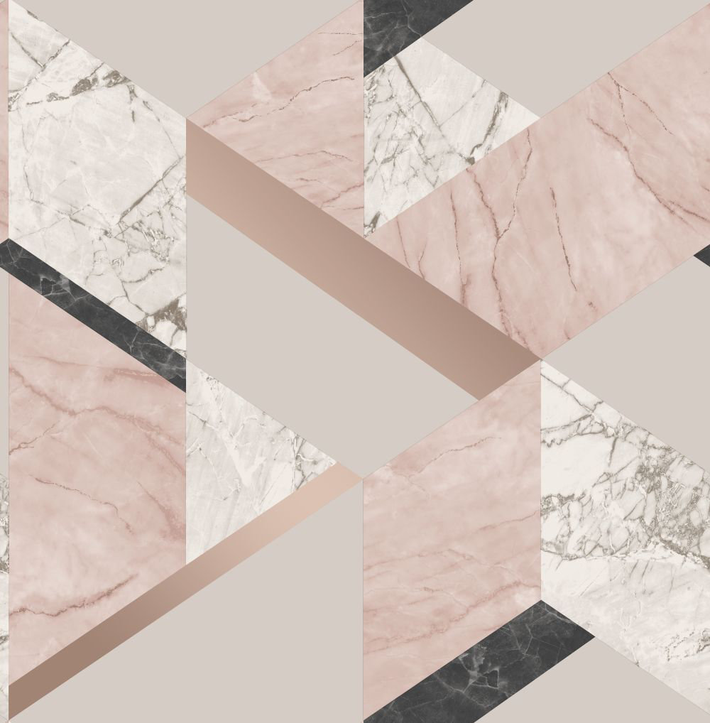 Albany Marblesque Geo Pink Wallpaper main image
