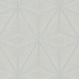 Albany Pulse Star Geo Grey and Silver Wallpaper