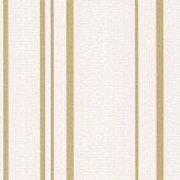 Albany Pulse Stripe White and Gold Wallpaper - Product code: FD42343