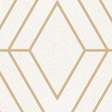 Albany Pulse Diamond White and Gold Wallpaper