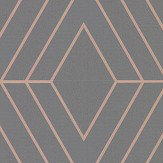 Albany Pulse Diamond Charcoal Wallpaper