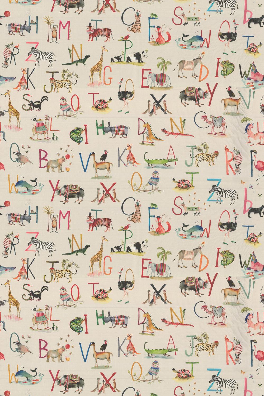 Prestigious Animal Alphabet Fudge Fabric - Product code: 8628/196