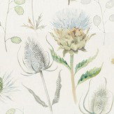 Sanderson Thistle Garden Mist and Pebble Fabric