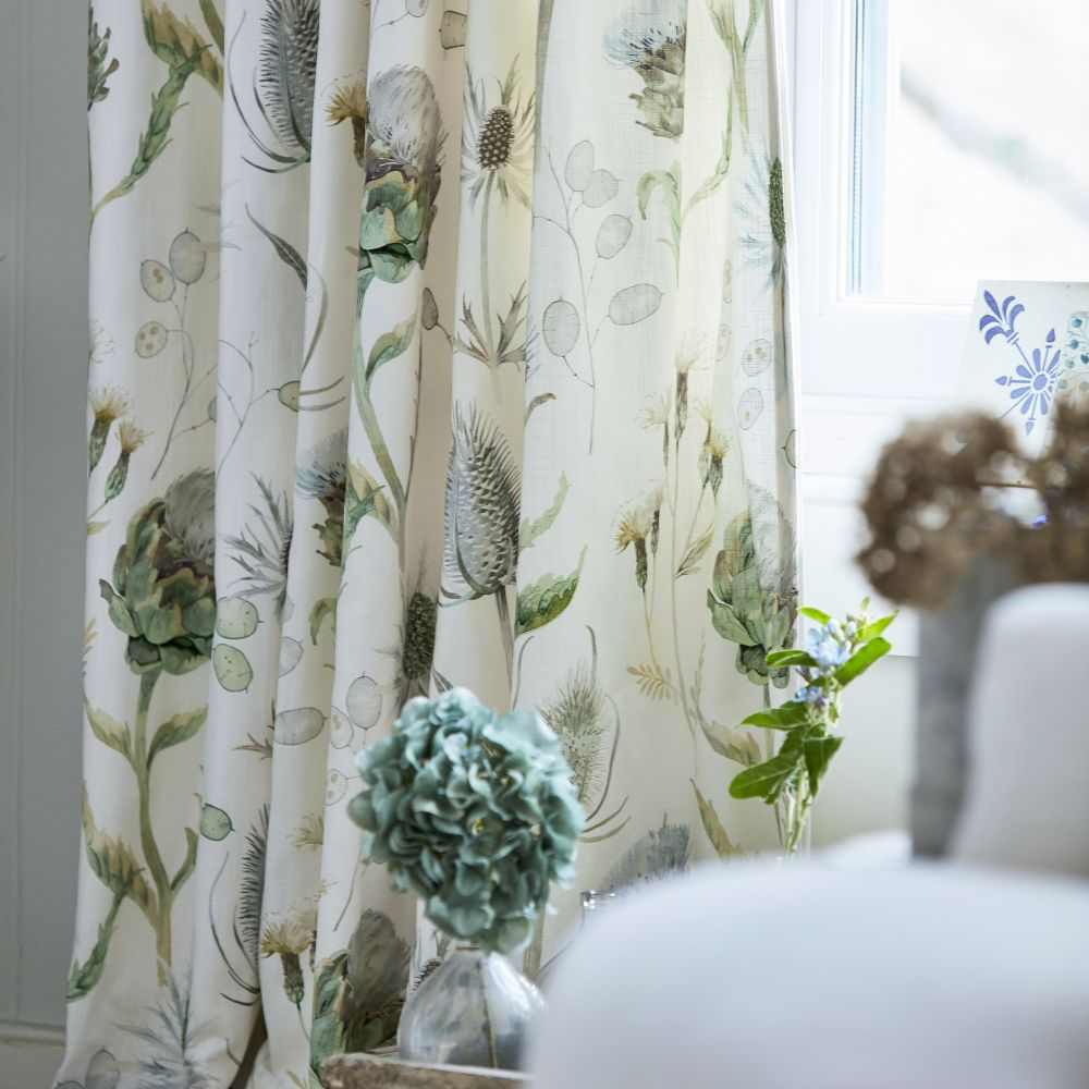 Sanderson Thistle Garden Mist and Pebble Fabric - Product code: 226421