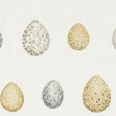 Sanderson Nest Egg Corn and Graphite Fabric