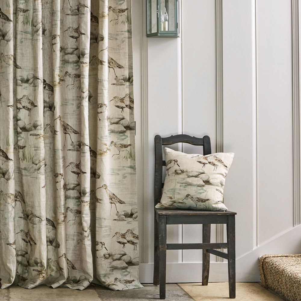 Sanderson Estuary Birds Eggshell and Nest Fabric - Product code: 226427
