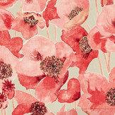 Sanderson Embleton Claret and Linen Fabric