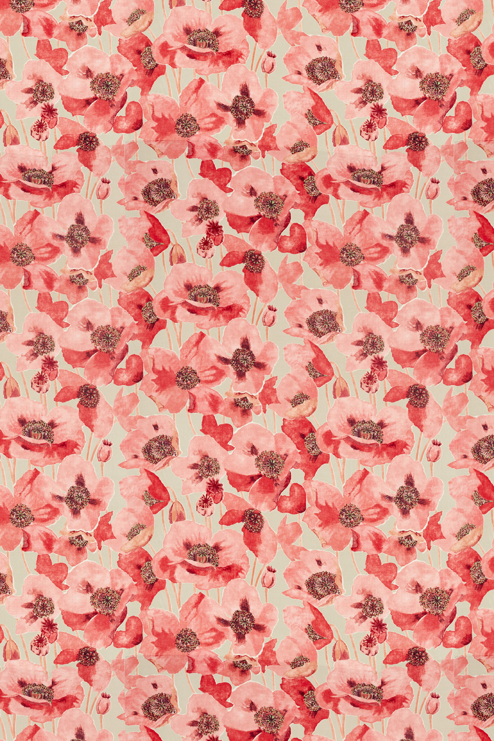 Sanderson Embleton Claret and Linen Fabric - Product code: 226429