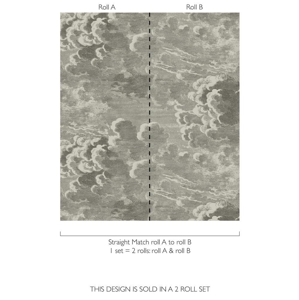 Cole & Son Nuvolette Dark Grey Wallpaper - Product code: 114/2004
