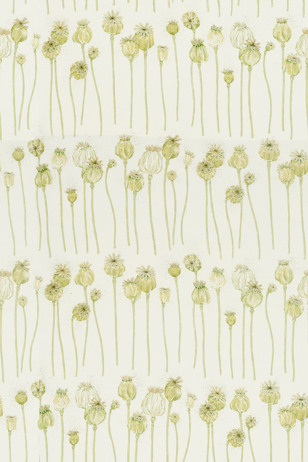 Sanderson Poppy Pods Olive and Almond Fabric - Product code: 226431