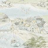 Sanderson Sea Houses Tidewater Blue Fabric