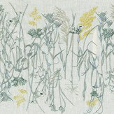 Sanderson Pressed Flowers Mist and Shell Fabric