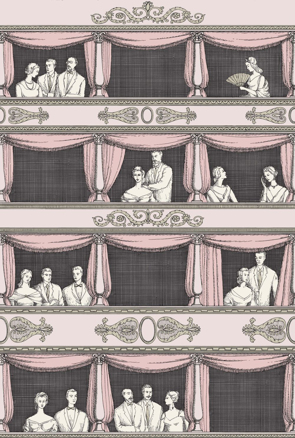 Cole & Son Teatro Neutral Wallpaper - Product code: 114/4008