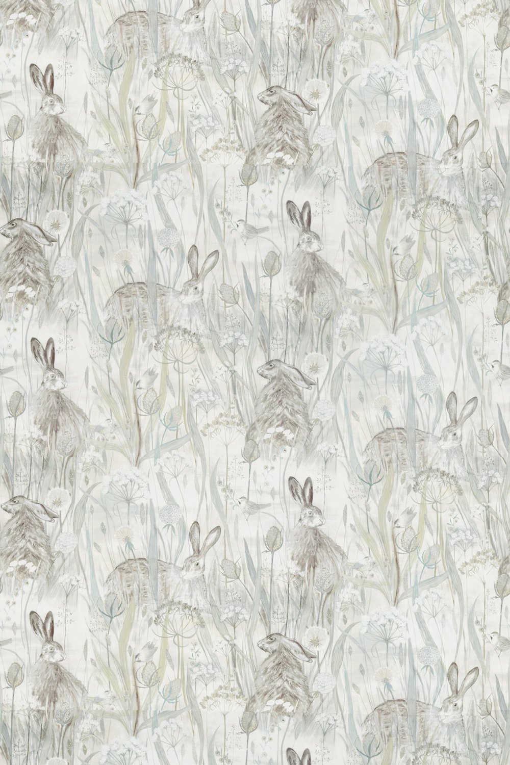 Sanderson Dune Hares Mist and Pebble Fabric - Product code: 226436