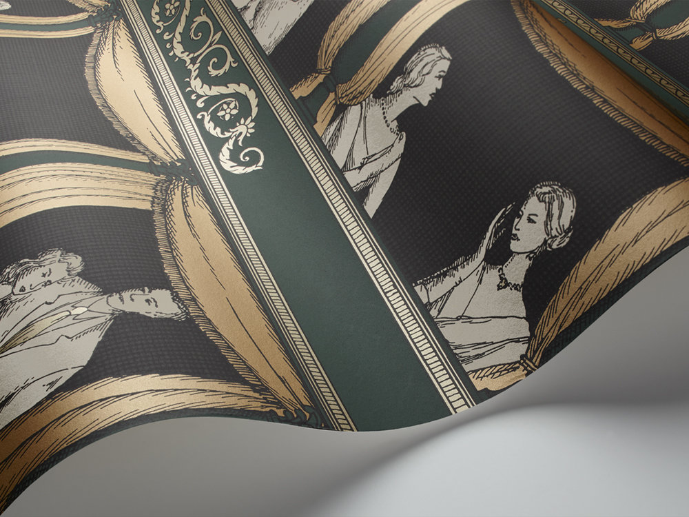Teatro Wallpaper - Green - by Cole & Son