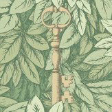 Cole & Son Chiavi Segrete Light green Wallpaper