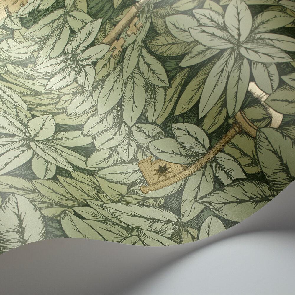 Chiavi Segrete Wallpaper - Light green - by Cole & Son