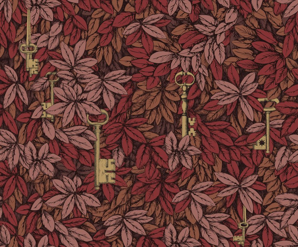 Cole & Son Chiavi Segrete Red Wallpaper main image