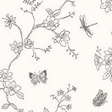 Galerie Butterfly Trail Black and White Wallpaper