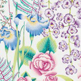 Harlequin Amaryllis Cerise and Lagoon Fabric
