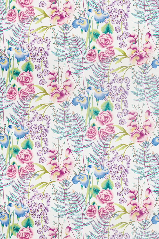 Harlequin Amaryllis Cerise and Lagoon Fabric - Product code: 120734