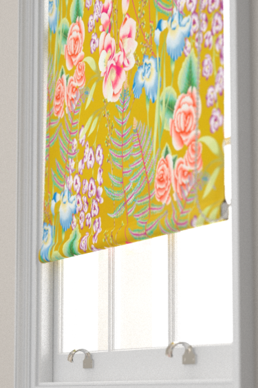 Harlequin Amaryllis Coral and Ochre Blind - Product code: 120735