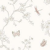 Galerie Butterfly Trail Toffee Grey Wallpaper