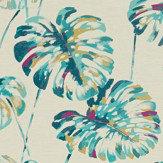 Harlequin Kelapa Lagoon and Cerise Fabric - Product code: 132646