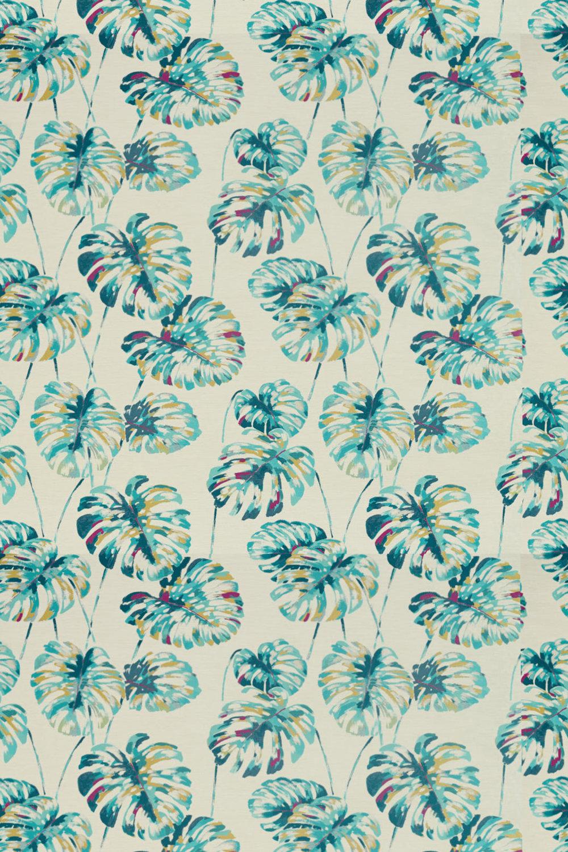 Kelapa Fabric - Lagoon and Cerise - by Harlequin