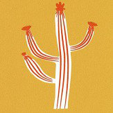 Caselio Free Hugs Cactus Mustard and Orange Wallpaper