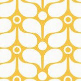 Caselio Flower Power Mustard Wallpaper