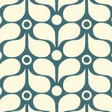 Caselio Flower Power Teal Wallpaper