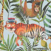 Prestigious King of the Jungle Waterfall Fabric