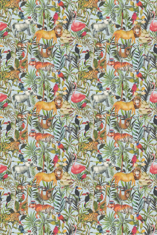 Prestigious King of the Jungle Waterfall Fabric - Product code: 8630/010