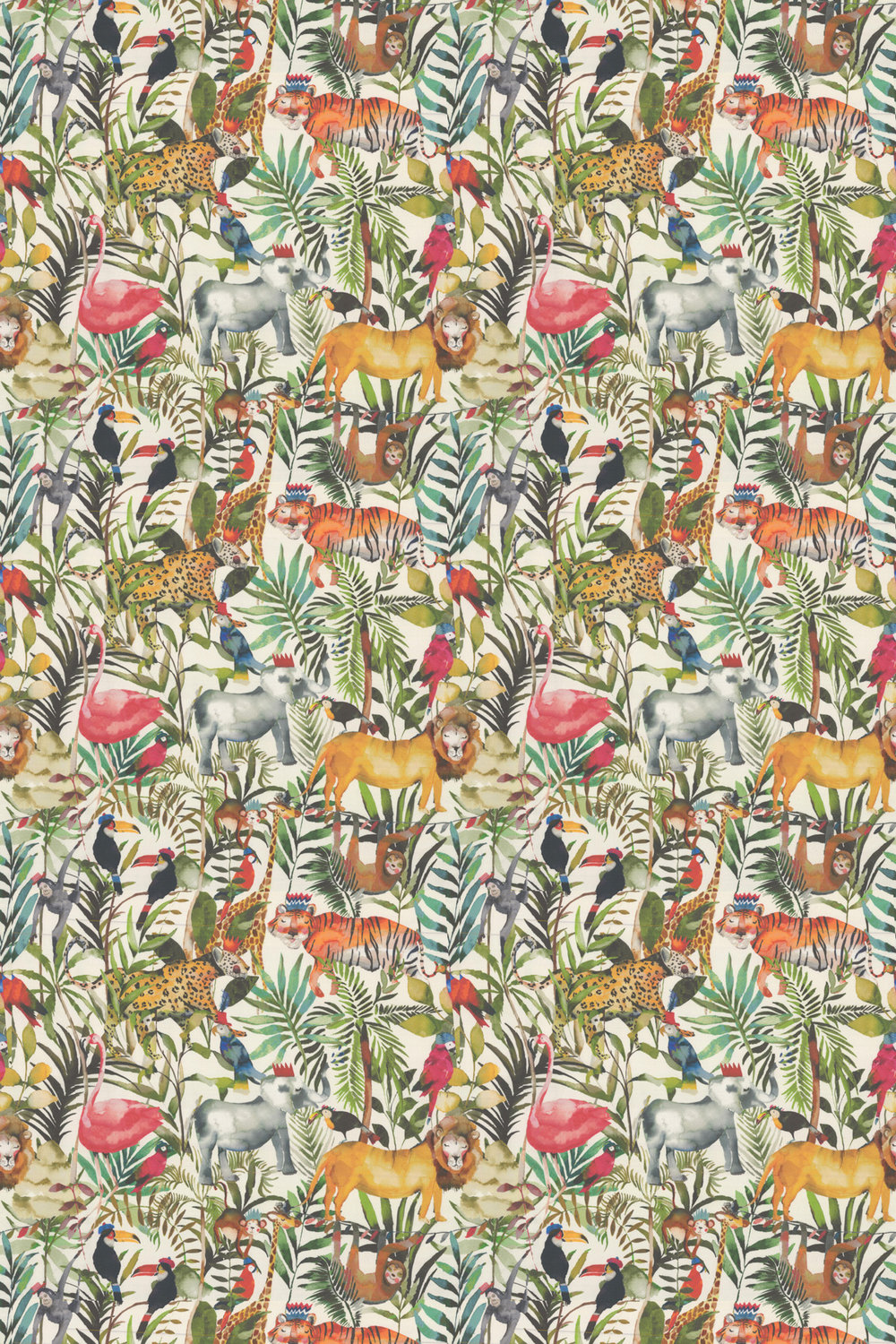Prestigious King of the Jungle Safari Fabric - Product code: 8630/677